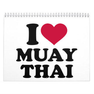 I love Muay Thai Calendar