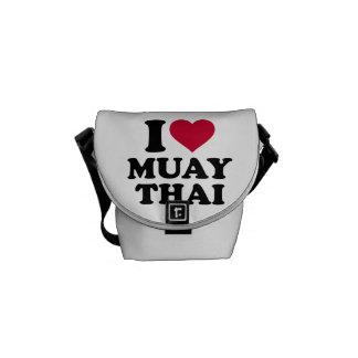 I love Muay Thai Messenger Bag