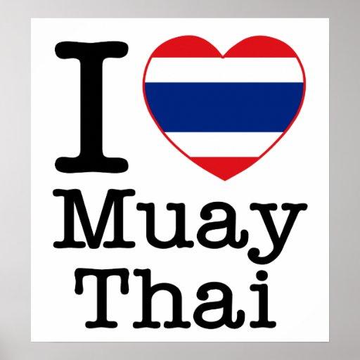 I Love Muay Thai Poster