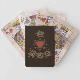 I Love Mud Bicycle Playing Cards