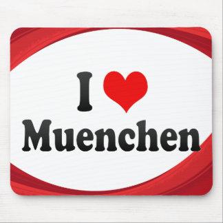 I Love Muenchen Germany Mousepad