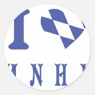 I love muenchen icon classic round sticker