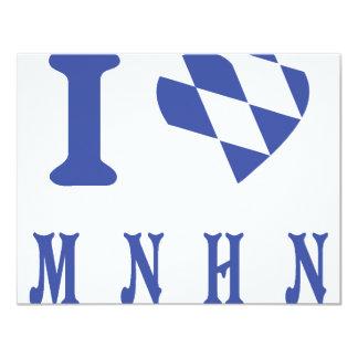 I love muenchen icon 4.25x5.5 paper invitation card