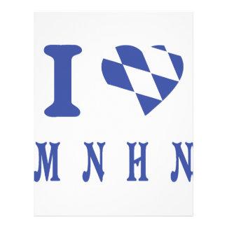 I love muenchen icon personalized letterhead