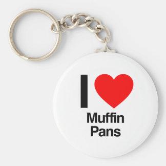 i love muffin pans basic round button keychain