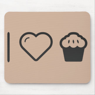 I Love Muffins Mouse Pad
