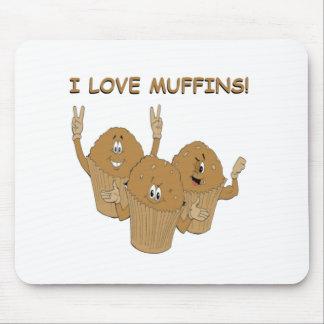 I Love Muffins! Mousepad