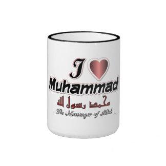 I love Muhammad, The messenger of Allah Ringer Mug