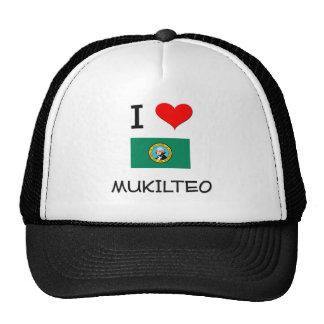 I Love Mukilteo Washington Mesh Hats