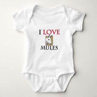 I Love Mules Baby Bodysuit