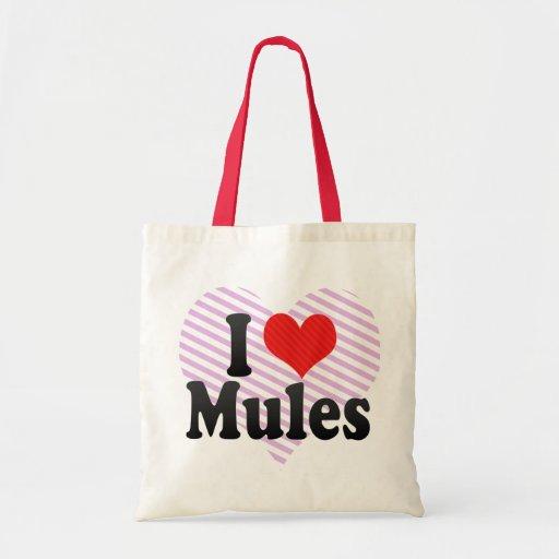 I Love Mules Budget Tote Bag