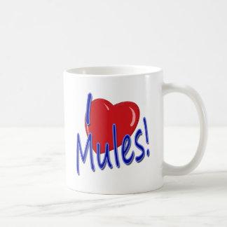 I Love Mules! Classic White Coffee Mug