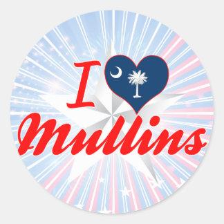 I Love Mullins, South Carolina Stickers