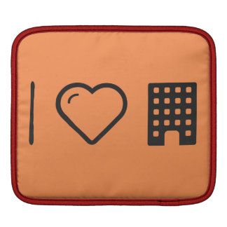 I Love Multi-Story Buildings iPad Sleeve