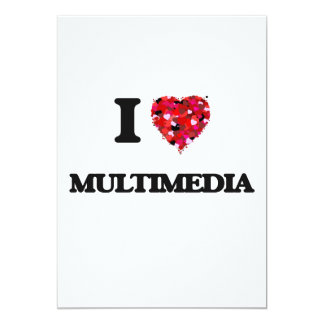 I Love Multimedia 5x7 Paper Invitation Card