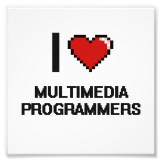 I love Multimedia Programmers Photo Print