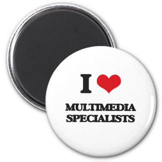 I love Multimedia Specialists Fridge Magnet