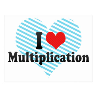 I Love Multiplication Postcard