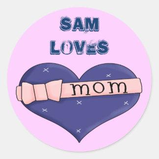 I Love Mum 2 Classic Round Sticker