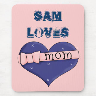 I Love Mum 2 Mouse Pad