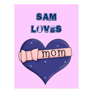 I Love Mum 2 Postcard