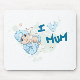 I Love Mum - Boy Mousepads
