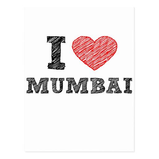 I Love Mumbai sketch Postcards