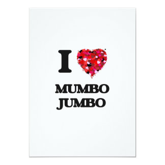 I Love Mumbo Jumbo 5x7 Paper Invitation Card
