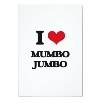 I Love Mumbo Jumbo 3.5x5 Paper Invitation Card