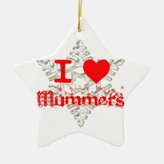 I LOVE MUMMERS SNOWFLAKE CERAMIC ORNAMENT