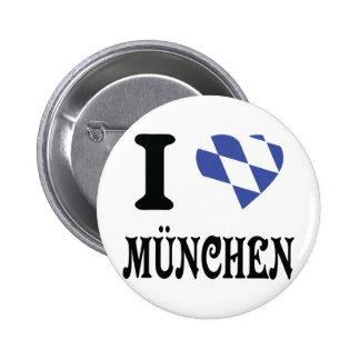 I love München icon Pinback Button