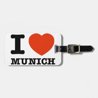 I Love Munich Bag Tag