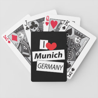 I Love Munich Germany Bicycle Playing Cards