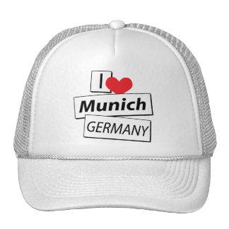 I Love Munich Germany Trucker Hat