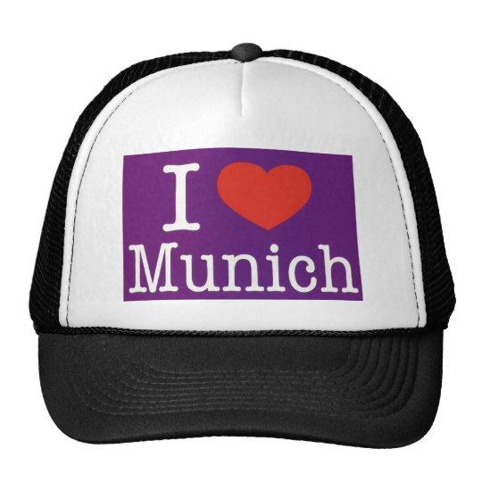 I Love Munich Purple Trucker Hat