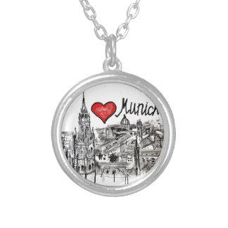 I love Munich Silver Plated Necklace