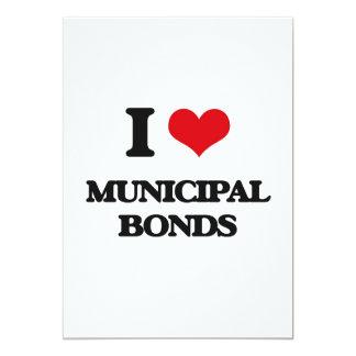 I Love Municipal Bonds 5x7 Paper Invitation Card