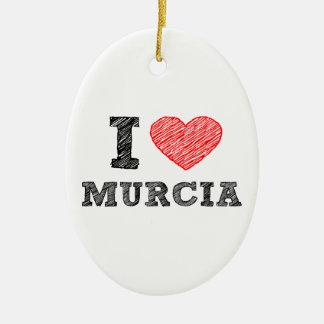 I-love-Murcia Ceramic Ornament
