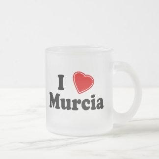 I Love Murcia Frosted Glass Coffee Mug