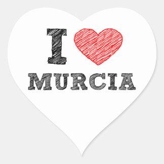 I-love-Murcia Heart Sticker