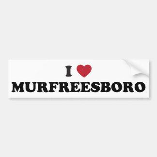 I Love Murfreesboro Tennessee Bumper Sticker
