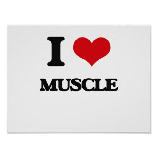 I Love Muscle Print