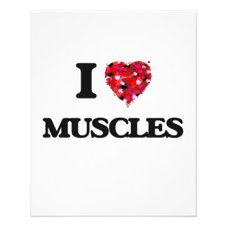 "I love Muscles 4.5"" X 5.6"" Flyer"
