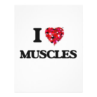 "I love Muscles 8.5"" X 11"" Flyer"