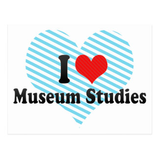 I Love Museum Studies Postcard