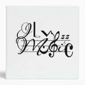 I Love Music 3 Ring Binder