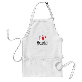 I Love Music Adult Apron