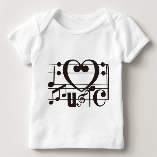 I LOVE MUSIC BABY T-Shirt