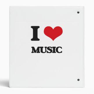 I Love Music Vinyl Binders