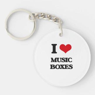I Love Music Boxes Keychain